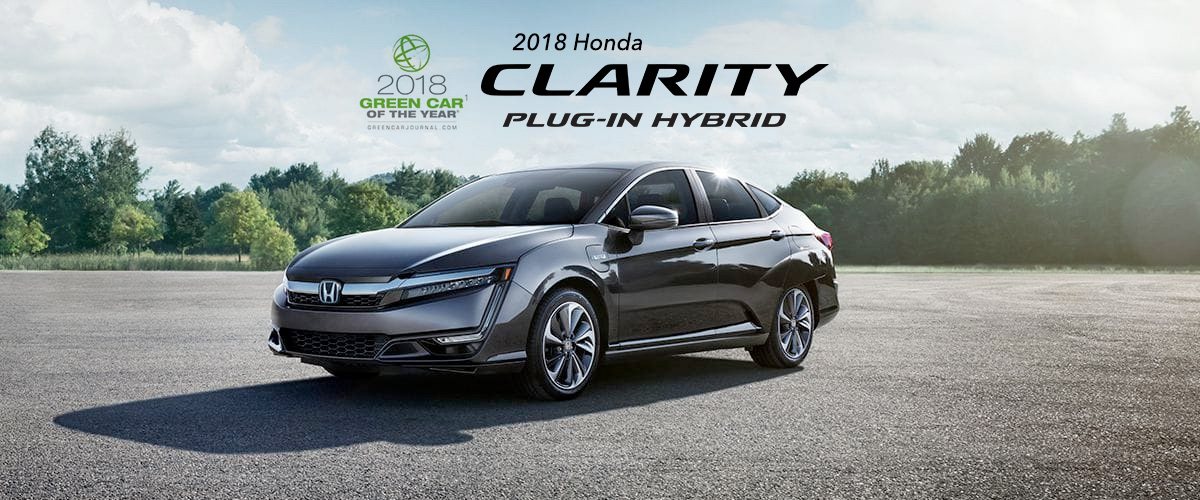 2018 Honda Clarity Plug In Hybrid Parked In Lot